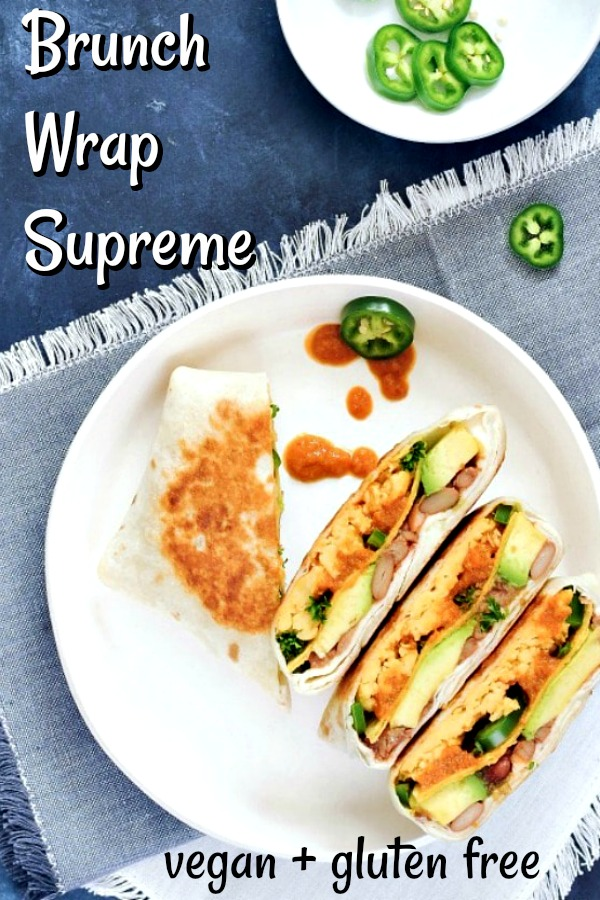 Brunch Wrap Supreme @spabettie #vegan #glutenfree #oilfree #breakfast #brunch