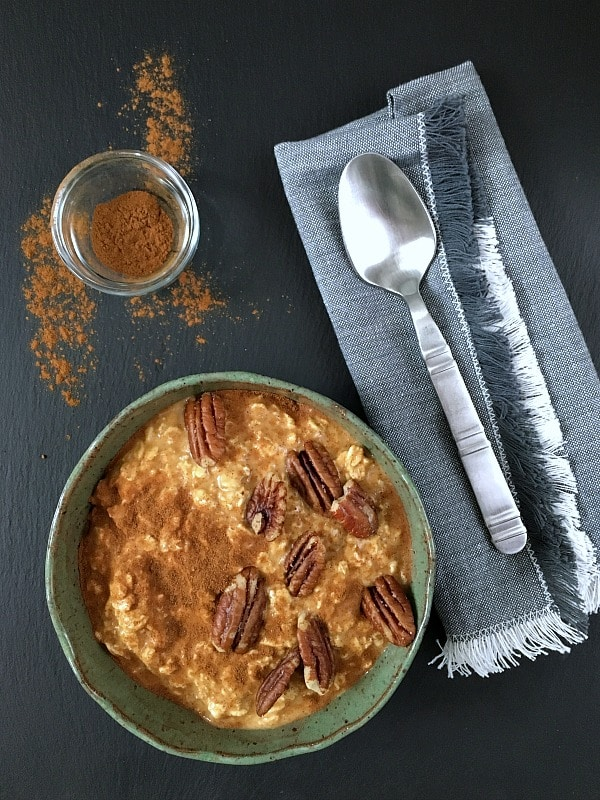 Easy Maple Pumpkin Overnight Oats @spabettie #vegan #glutenfree #oilfree #soyfree #breakfast