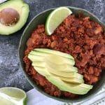 Spicy Chorizo Chili @spabettie #vegan #glutenfree #soyfree #oilfree #comfortfood #gameday #slowcooker #instantpot