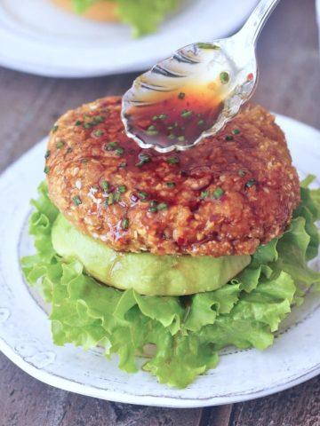 Ginger Sesame Teriyaki Burgers @spabettie #vegan #glutenfree #soyfree #oilfree #nutfree #burger #gameday
