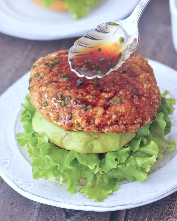 Ginger Sesame Teriyaki Burgers @spabettie #vegan #glutenfree #soyfree #oilfree #nutfree #burger #gameday