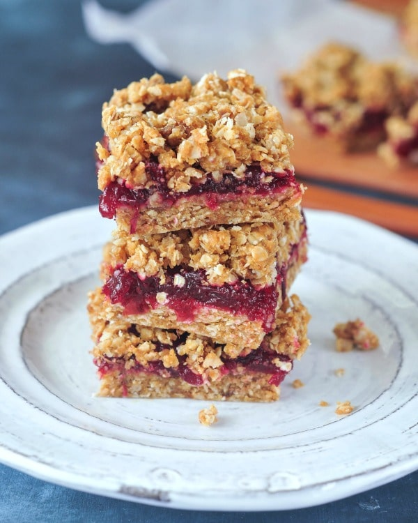 Cranberry Oat No Bake Bars @spabettie #vegan #glutenfree #soyfree #oilfree #dessert