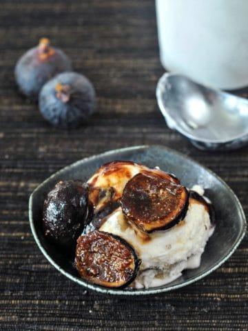 Espresso Sugared Figs @spabettie #vegan #glutenfree #oilfree #dessert