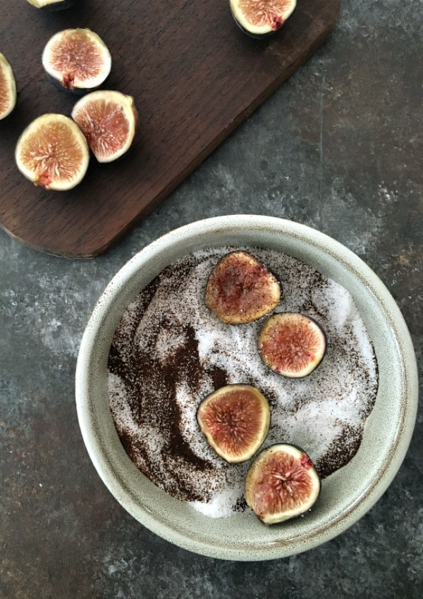 Espresso Sugared Figs @spabettie #vegan #glutenfree #oilfree #dessert