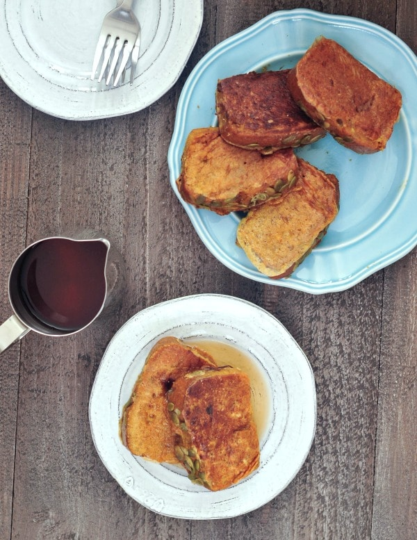 Pumpkin Bread French Toast @spabettie #vegan #glutenfree #soyfree #breakfast