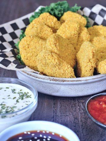 Vegan Chicken Nuggets @spabettie #glutenfree #soyfree #oilfree #vegan
