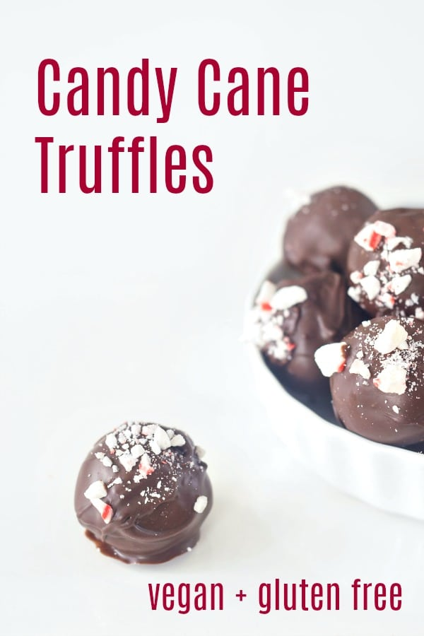 Easy Vegan Candy Cane Truffles @spabettie #vegan #glutenfree #holiday #chocolate #candy