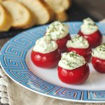 Herb Cheese Peppadew Sweet Peppers @spabettie #vegan #oilfree #glutenfree #party #appetizer #holiday #gameday