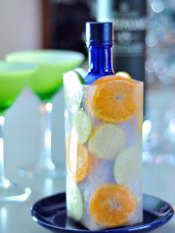 Vodka Bottles On Ice @spabettie #vodka #party #cocktails #gameday