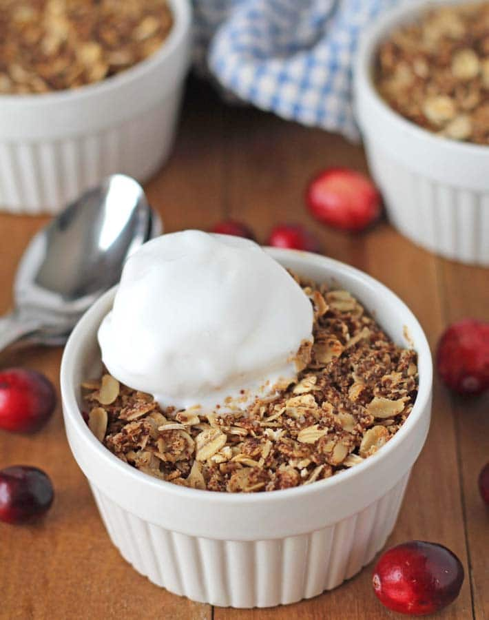 Pear Cranberry Crisp - Delightful Adventures