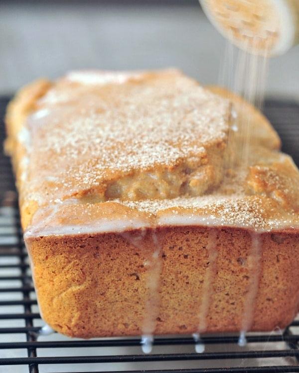 Sugared Vanilla Snickerdoodle Bread @spabettie #vegan #glutenfree #soyfree #dessert #cake