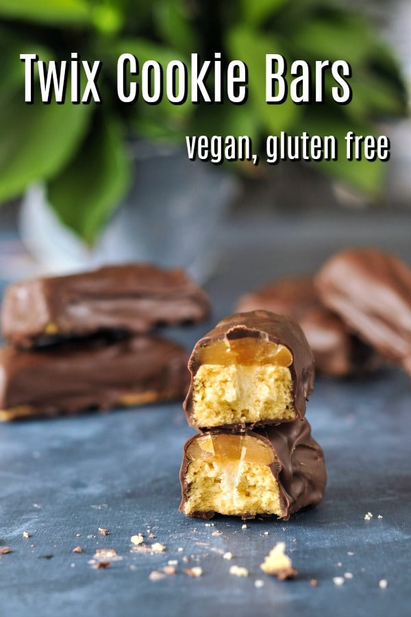 Vegan Twix Bars @spabettie #vegan #glutenfree #copycat