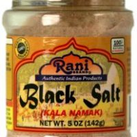 Rani Black Salt (Kala Namak) Powder 5oz (142g) Indian, Unrefined, Pure and Natural