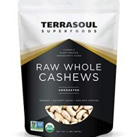 Organic Raw Whole Cashews, 32 oz