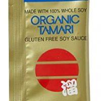 San-j Organic Tamari Gluten Free Soy Sauce Travel Packs (50 Packets)