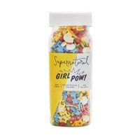 Supernatural Girl Pow Rainbow Sprinkles, Natural, Star Confetti, Soy and Gluten Free, Vegan, Kosher, Non GMO, 2.5 Oz