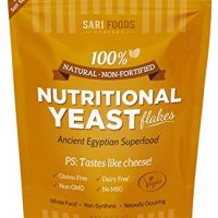 Nutritional Yeast Flakes (8 oz.) Whole Food Protein Powder, Vitamin B, all 18 Amino Acids