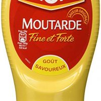Amora Strong Dijon Mustard from France - 2 plastic bottles - 265 grams each