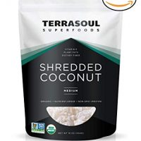 Terrasoul Superfoods Organic Shredded Coconut (Medium), 2 Pounds
