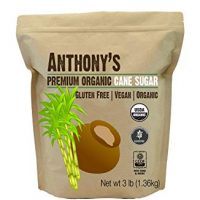Organic Cane Sugar (3 lbs) by Anthony's, Gluten-Free Non-GMO