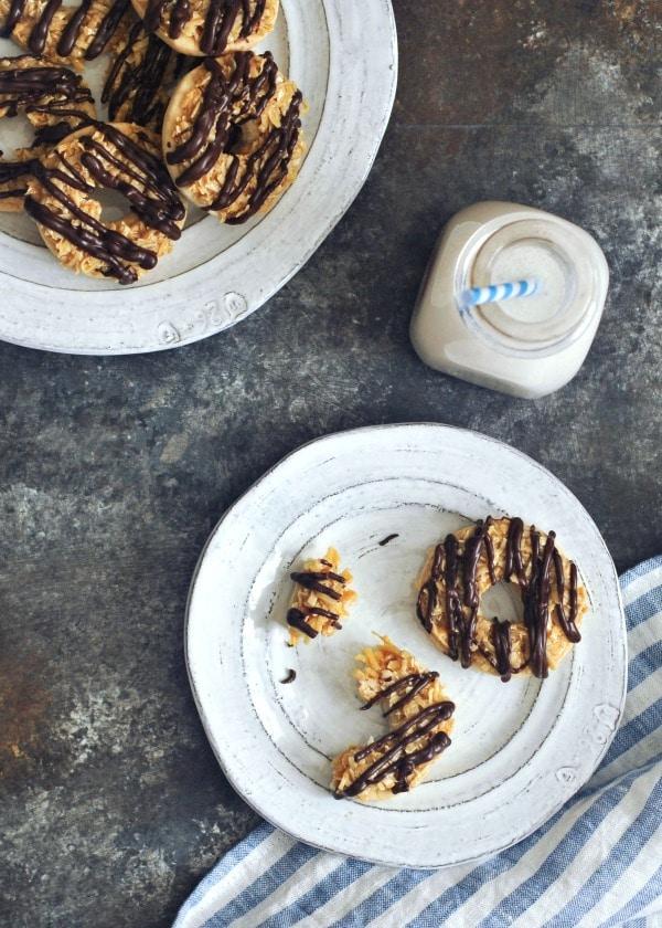Gluten Free Vegan Samoa Girl Scout Cookies @spabettie #vegan #glutenfree #cookies #dairyfree #dessert