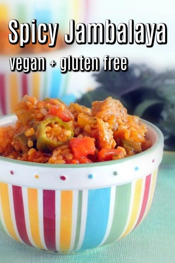 Vegan Jambalaya @spabettie #vegan #glutenfree #mardigras #comfortfood