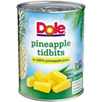 DOLE Pineapple Tidbits in 100% Pineapple Juice 20 oz. Can