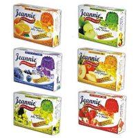 Jeannie Prebiotics 100% No Animal Content Gelatin-free Dessert [High Fiber & Vitamin C], Assorted Flavor, 3.6oz Boxes (Pack of 12)