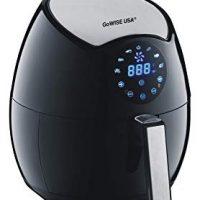 GoWISE USA GW22621 4th Generation Electric Air Fryer w/Touch Screen Technology, Button Guard & Detachable Basket - Black 3.7 QT, 1400W