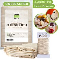 Cheesecloth Grade 90-100% Unbleached Cotton - Filter - Strain