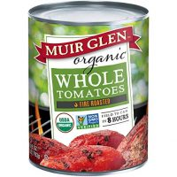 Muir Glen Canned Tomatoes, Organic Whole Tomatoes, Fire Roasted, No Sugar Added, 28 Ounce