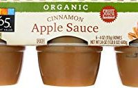 365 Everyday Value, Organic Apple Sauce, Cinnamon (6 - 4 oz bowls)