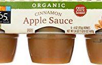365 Everyday Value, Organic Apple Sauce, Cinnamon (6 - 4 oz bowls)