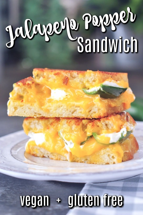Jalapeno Popper Sandwich: gooey melted cheese and jalapeno poppers between golden grilled bread
