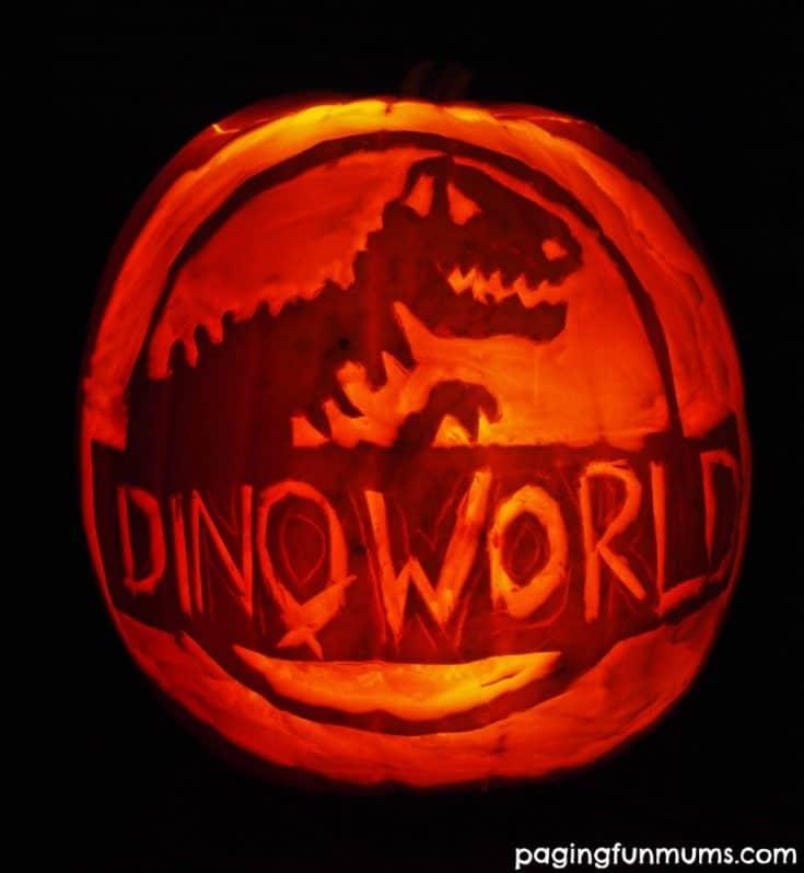 Dinosaur Halloween Pumpkin