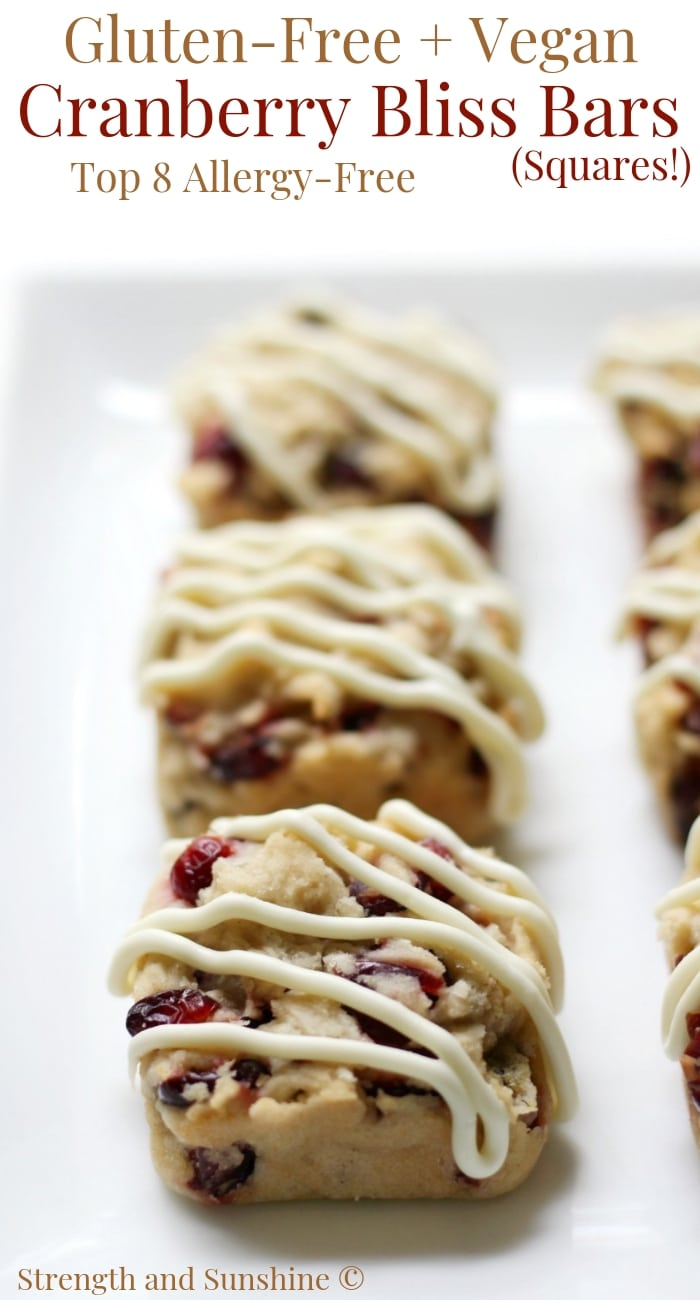 Cranberry Bliss Bars (Allergy-Free)