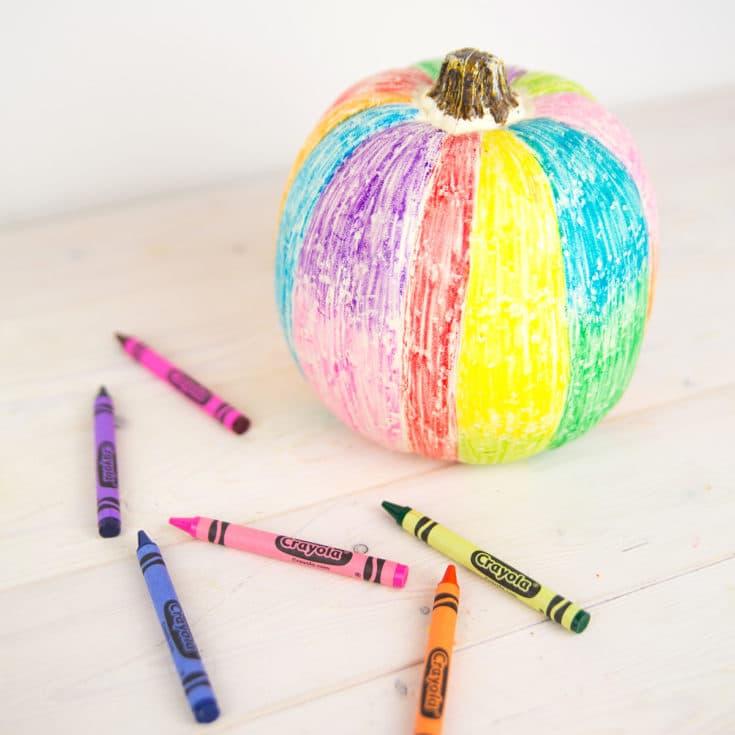 Rainbow Scribble No-Carve Pumpkin