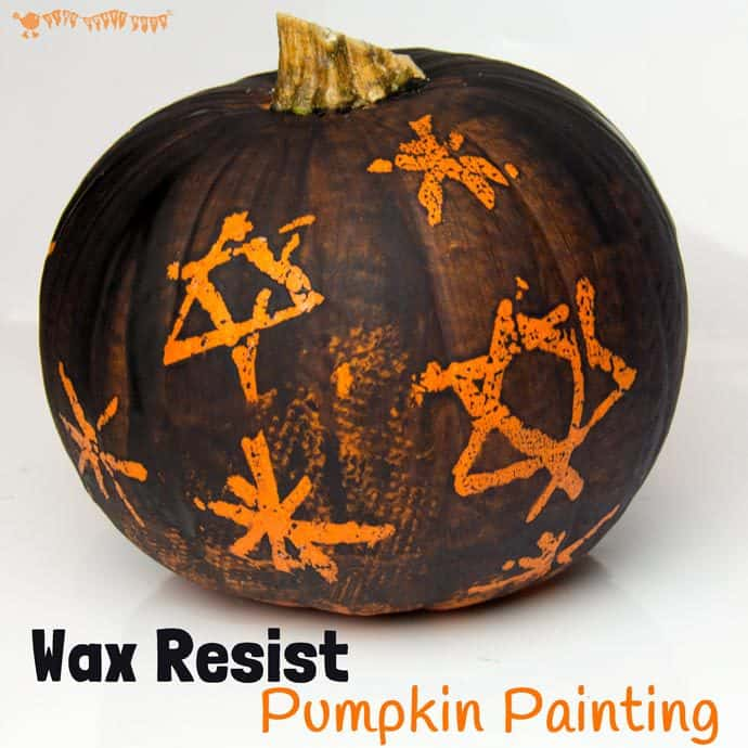 WAX RESIST PUMPKIN PAINTING