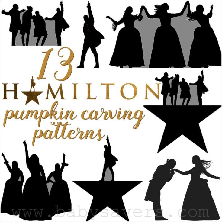 Hamilton Pumpkin Carving Patterns and Printable Stencils
