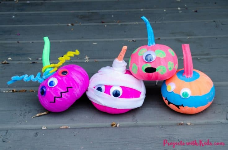 Frightfully Easy No-Carve Pumpkin Monsters