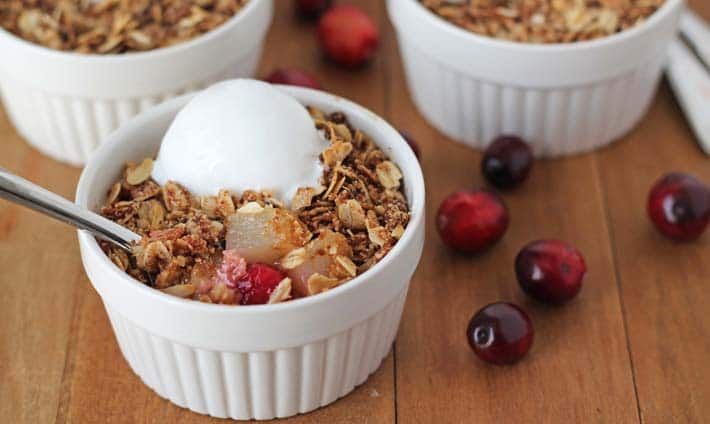 Easy Pear Cranberry Crisp (Vegan + Gluten-Free)