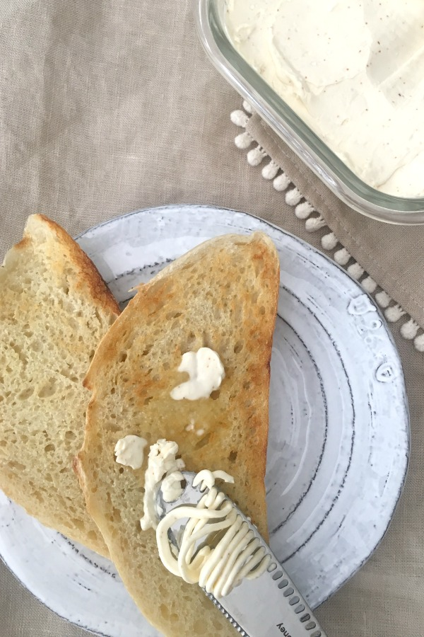 vegan butter spread on toast