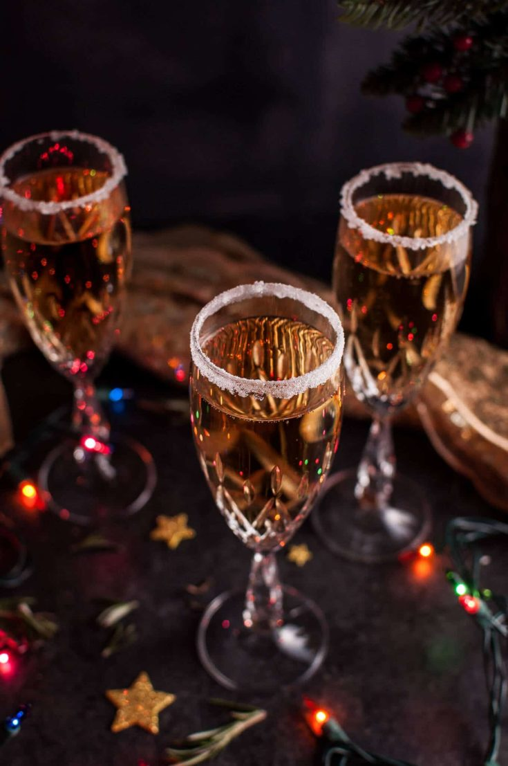 Christmas Pear Champagne Cocktail